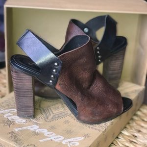 Free People Open Toe Snap Close Bootie